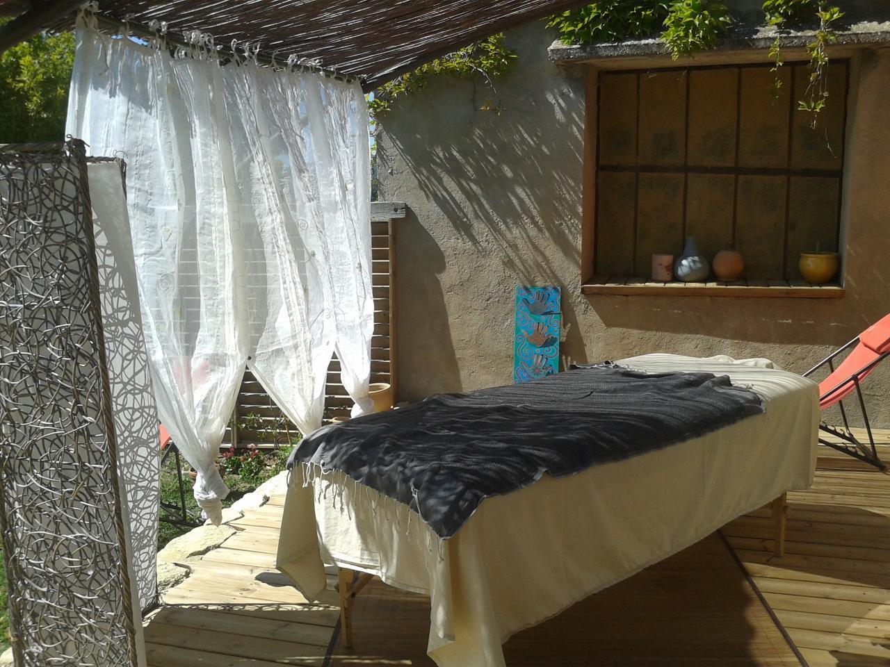 installation sur la terrasse quand le temps le permet